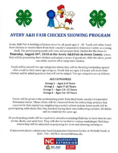 Cover photo for Avery Mitchell Yancey 4-H Chicken Project