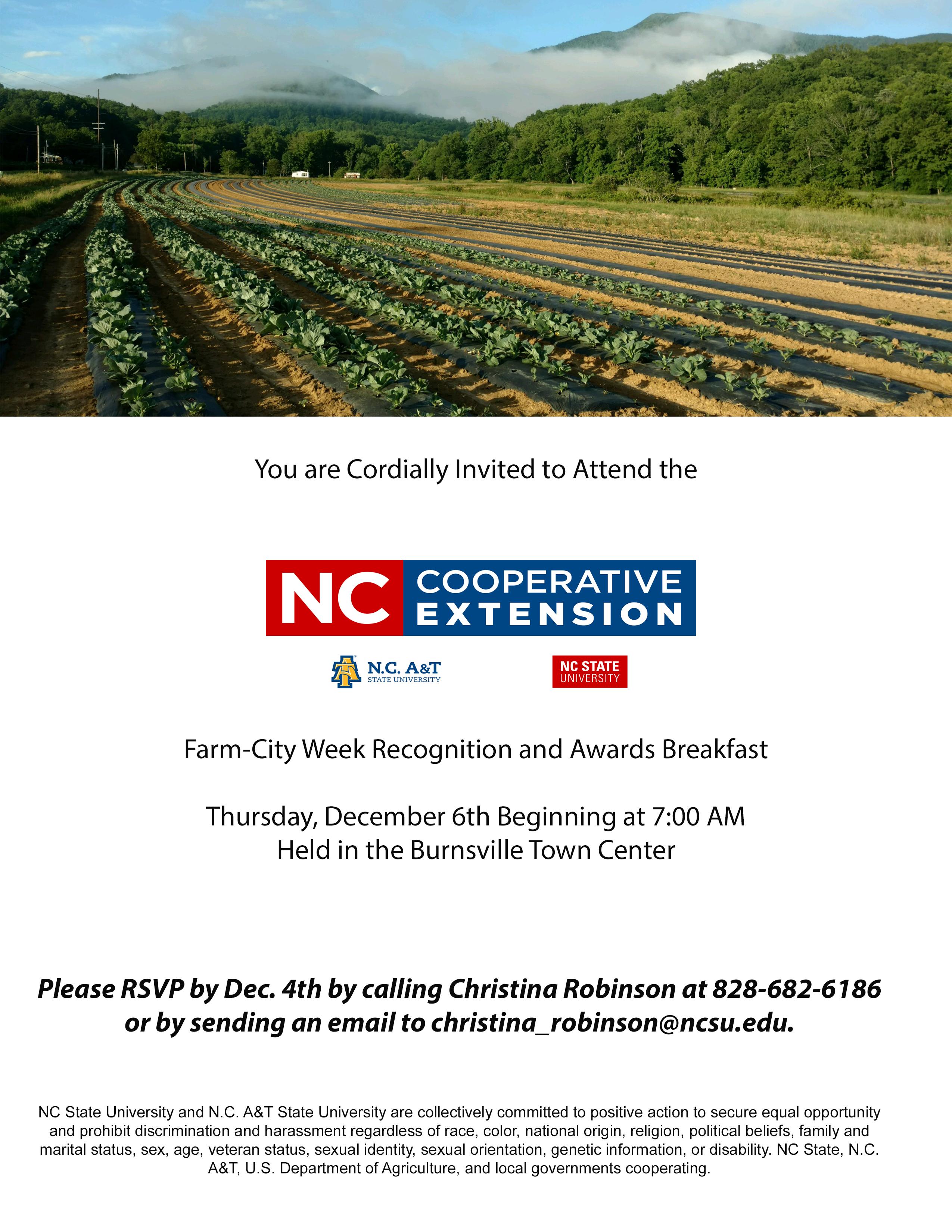 Farm City Awards Breakfast flyer image