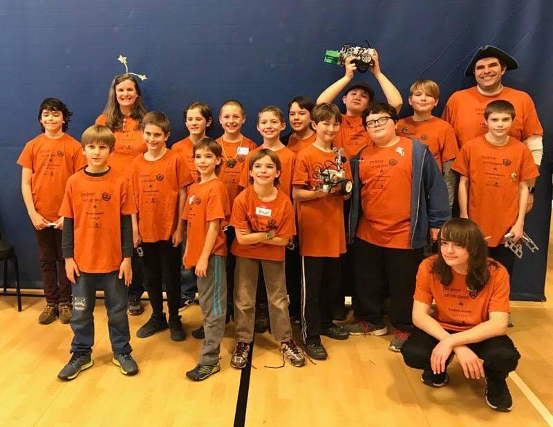 Image of Yancey County 4-H Robotics team
