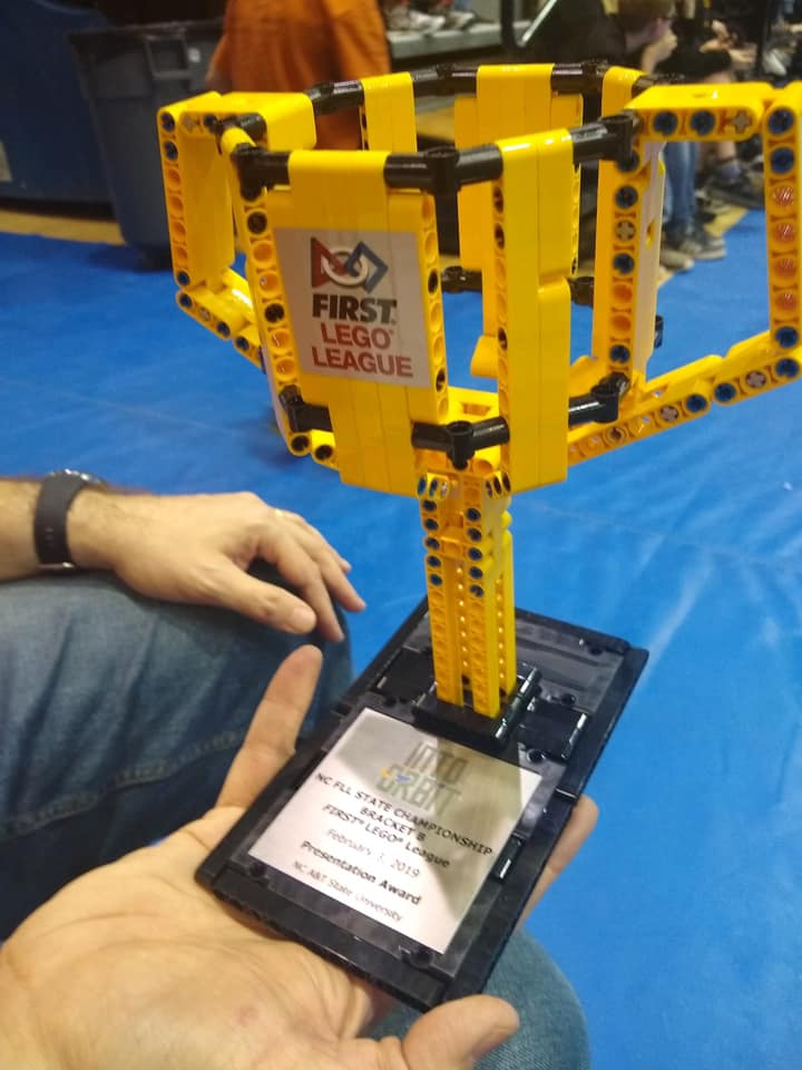 First Lego League award trophy