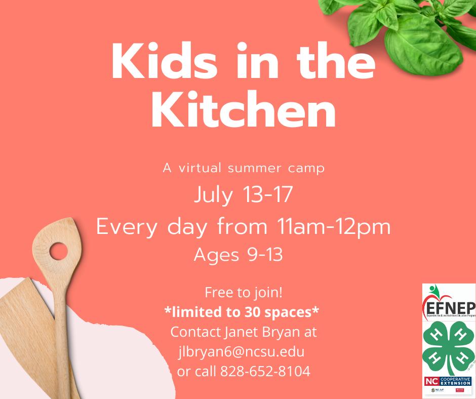 Kids in the Kitchen Flyer