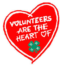 "Red Heart with Saying ""Volunteers are the heart of 4H"""