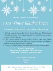 Cover photo for 4-H Winter Community Service Project: Blanket Drive