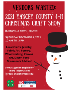 Cover photo for Yancey County 4-H Christmas Craft Fair
